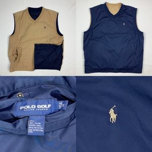 Ralph Lauren Polo Golf Reversible Pop Over Vest